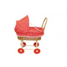 Коляска для куклы плетеная