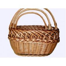 """Комплект плетеных корзин """"рыбак 3-ка"""" для хранения вещей, фруктов, овощей"""