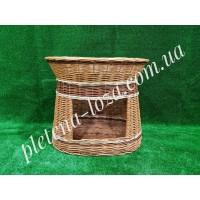 Домик с лежанкой для животных овальный