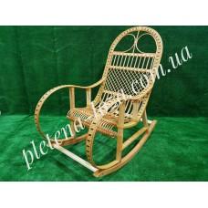 Кресло-качалка из лозы «Ротанг светлый»