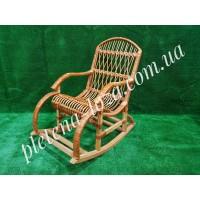 Кресло-качалка из лозы плетеная мебель