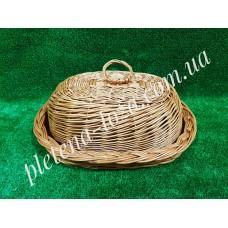 Хлебница из лозы с крышкой